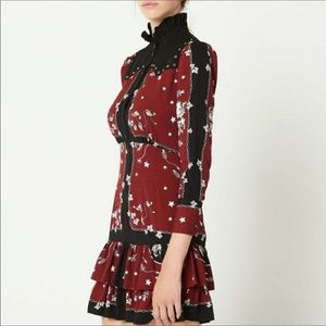 Sandro Winter Berkeley Lucila Bordeaux Shirt Dress